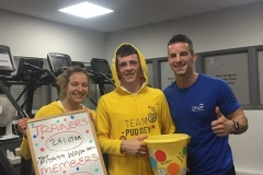 Adele and Kieren (Centre) win the 24 hr Children In Need challenge